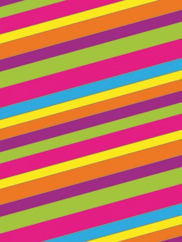 Bobina Papel de regalo Bancas (rayas) colores • Clásico • Multicolor • 62cm y 31cm x 100m