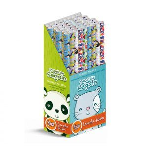 50 Rollos de papel de regalo INFANTIL • 70cm x 200cm • Incluye Expositor