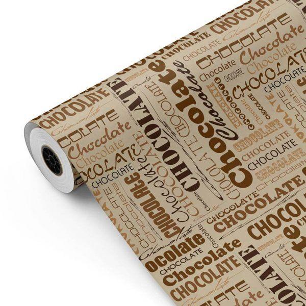 Bobina Papel de regalo CLASSIC • Chocolate • Beige:Marron • 62cm y 31cm x 100m-mkp