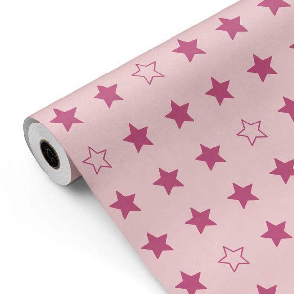 Bobina Papel de regalo CLASSIC • Estrellas • Rojo P185 • 62cm y 31cm x 100m
