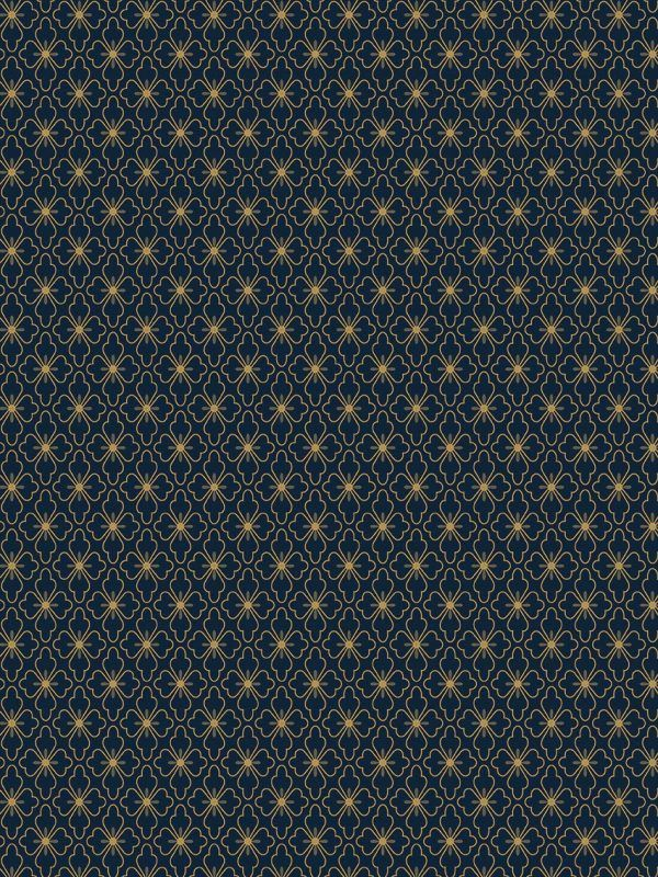 Bobina Papel de regalo CLASSIC • Polin • Oro:Azul oscuro • 62cm y 31cm x 100m