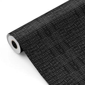 Bobina Papel de regalo CLASSIC • Rayas Cruzadas • Negro:Gris • 62cm y 31cm x 100m-mkp