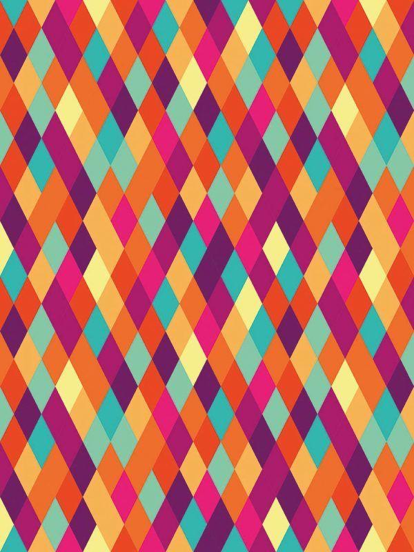 Bobina Papel de regalo CLASSIC • Rombos • Multicolor • 62cm y 31cm x 100m