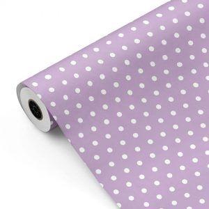 Bobina Papel de regalo ESSENTIAL • Pastel • Violeta 523 Lunares • 62cm y 31cm x 100m