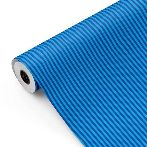 Bobina Papel de regalo INFINITY • Rayas • Azul 1 • 62cm y 31cm x 100m-mkp