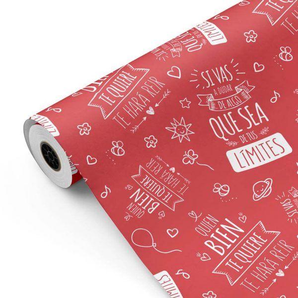 Bobina Papel de regalo INSPIRATION • Inspiración • Rojo 7418 • 62cm y 31cm x 100m-mkp