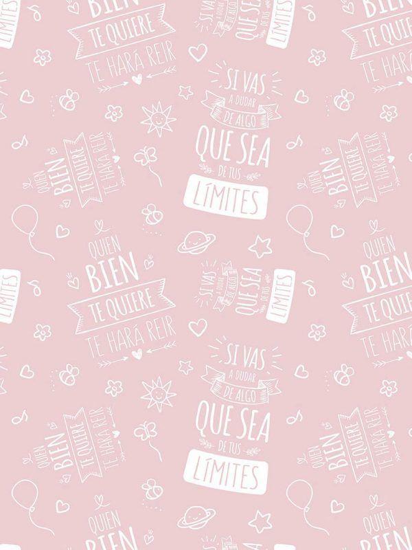 Bobina Papel de regalo INSPIRATION • Inspiración • Rosa 691 • 62cm y 31cm x 100m