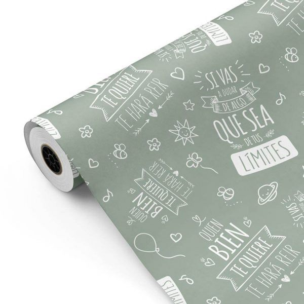 Bobina Papel de regalo INSPIRATION • Inspiración • Verde 5645 • 62cm y 31cm x 100m-mkp