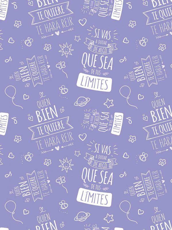Bobina Papel de regalo INSPIRATION • Inspiración • Violeta 271 • 62cm y 31cm x 100m