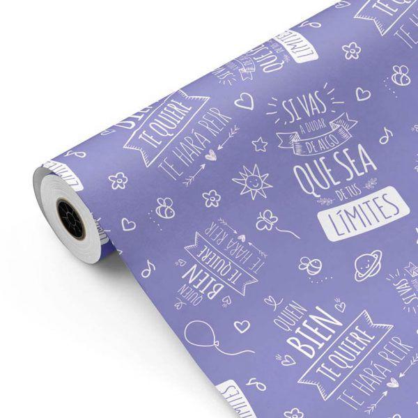 Bobina Papel de regalo INSPIRATION • Inspiración • Violeta 271 • 62cm y 31cm x 100m-mkp