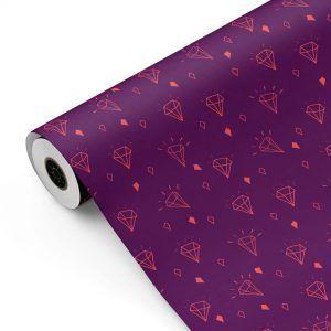Bobina Papel de regalo TRENDY • Diamante • Berenjena/Púrpura/Salmón • 62cm y 31cm x 100m-mkp