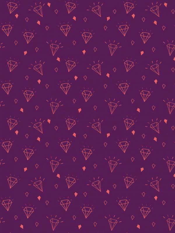 Bobina Papel de regalo TRENDY • Diamante • Berenjena/Púrpura/Salmón • 62cm y 31cm x 100m