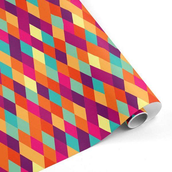 Rollo Papel de regalo CLÁSICO • Rombos • Multicolor mkp-R