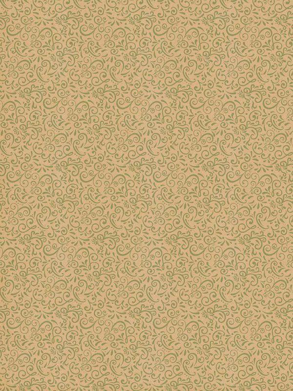 Rollo Papel de regalo KRAFT Clásico • Cenefa • Verde Claro-Marrón ocre