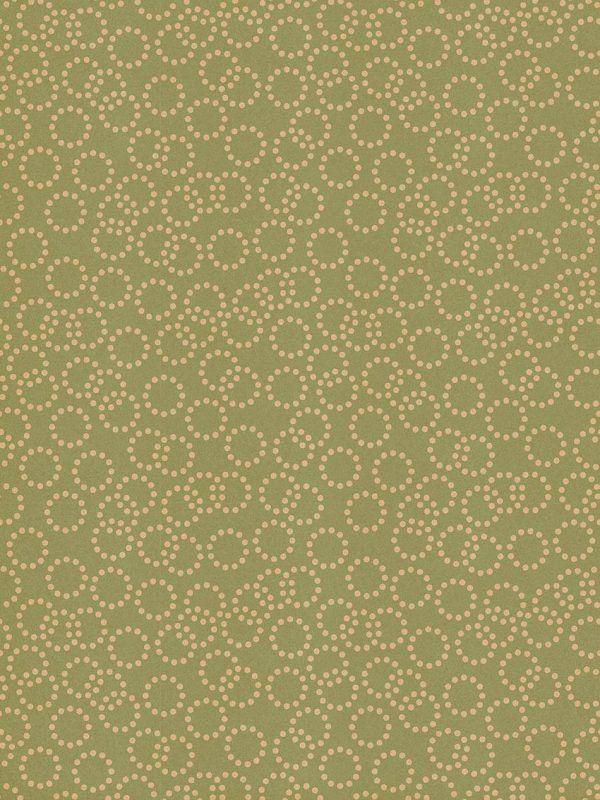 Rollo Papel de regalo KRAFT Clásico • Circulos • Verde claro-Marrón ocre