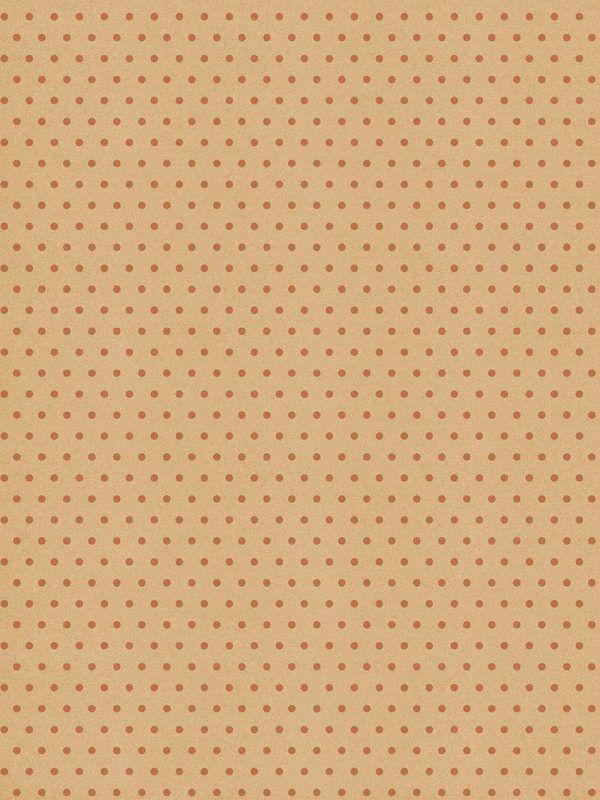Rollo Papel de regalo KRAFT Clásico • Topos • Cobre-Marrón ocre