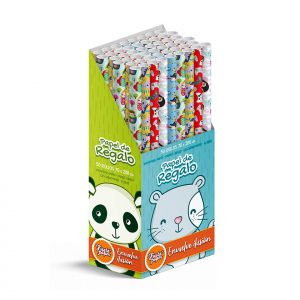50 Rollos de papel de regalo INFANTIL • 70cm x 200cm • Incluye Expositor-2021