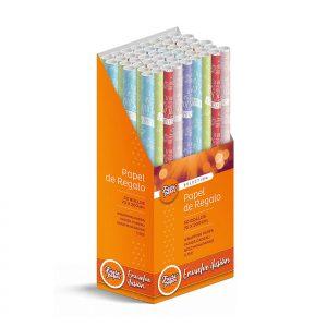 50 Rollos de papel de regalo INSPIRACIÓN • 70cm x 200cm • Incluye Expositor-2021