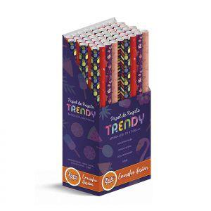 50 Rollos de papel de regalo TRENDY • 70cm x 200cm • Incluye Expositor-2021