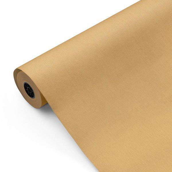 Bobina de Papel Kraft para regalo CLASSIC • Verjurado • Marrón • 62cm x 100m–mckp-B