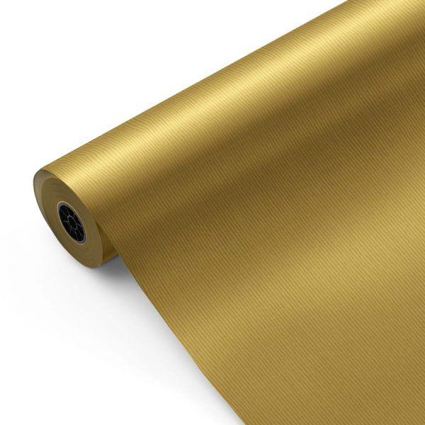 Bobina de Papel Kraft para regalo CLASSIC • Verjurado • Metalizado Oro • 62cm x 100m–mckp-B-850